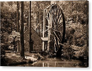 Berry's Old Mill In Sepia Canvas Print by Johann Todesengel