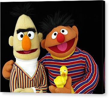 Bert And Ernie Canvas Print