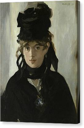 Berthe Morisot With A Bouquet Of Violets Canvas Print by Edouard Manet