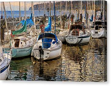 Berthed Canvas Print by Ed Hall