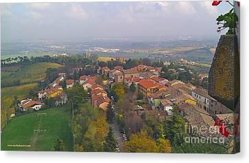 Bertinoro View -romagna Canvas Print by Italian Art