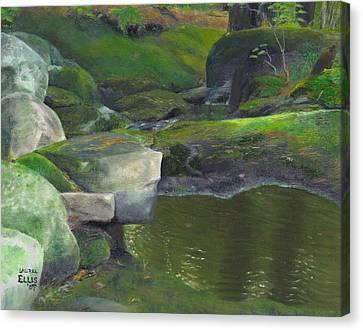 Beside Cool Waters Canvas Print by Laurel Ellis