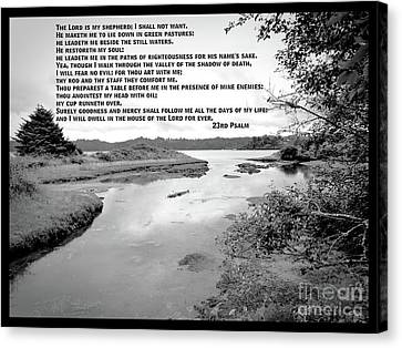 Beside Still Waters Canvas Print by Methune Hively