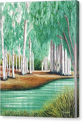 Beside Still Waters - Prints Of My Original Oil Paintings  Canvas Print