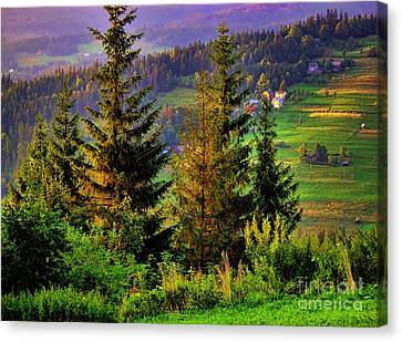 Canvas Print featuring the photograph Beskidy Mountains by Mariola Bitner