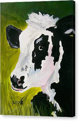 Bessy The Cow Canvas Print by Leo Gordon