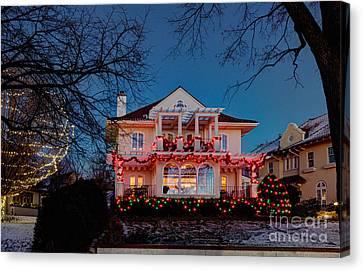 Best Christmas Lights Lake Of The Isles Minneapolis Canvas Print by Wayne Moran