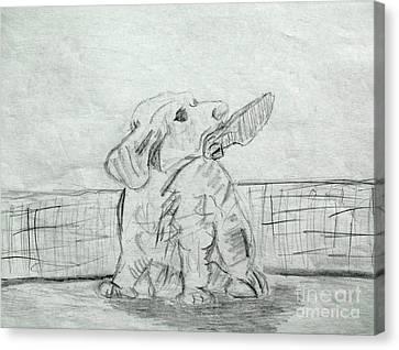 Best Friend 2 Canvas Print by Julie Coughlin