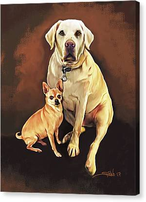 Best Friends By Spano Canvas Print by Michael Spano