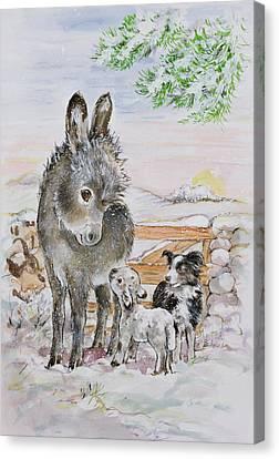 Best Friends Canvas Print by Diane Matthes
