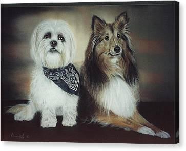 Best Friends Canvas Print by Nanybel Salazar