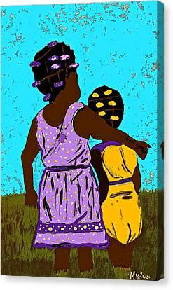 Best Friends Canvas Print by Saundra Myles