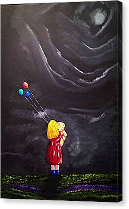 Canvas Print featuring the painting Best Friends by Scott Wilmot