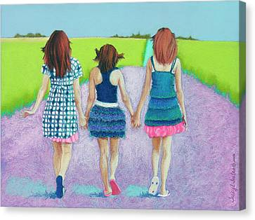 Best Friends Canvas Print by Tracy L Teeter