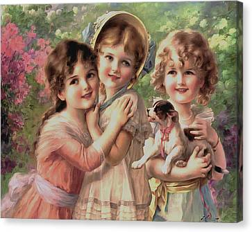 Best Of Friends Canvas Print by Emile Vernon