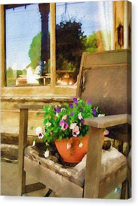 Canvas Print featuring the photograph Best Seat In The House by Sandy MacGowan