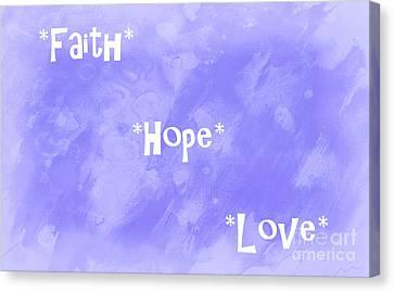 Best Three Words Canvas Print by Krissy Katsimbras