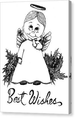 Best Wishes Angel Canvas Print by Susan Lafleur