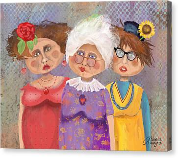 Bestfriendsforever Canvas Print by Arline Wagner
