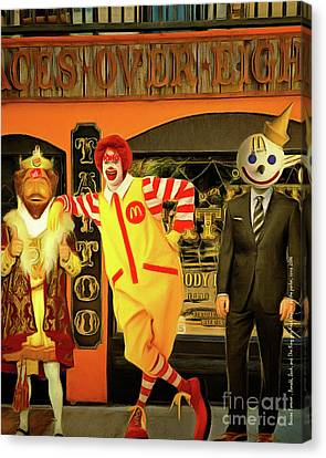 Besties Forever Ronald Jack And The King Gets Head Tattoos At The Parlor 20160625 Vertical Canvas Print