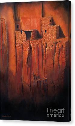 Betatakin Ruins Canvas Print by Jerry McElroy