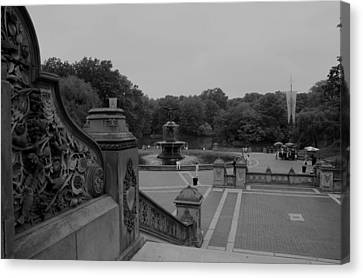 Bethesda Fountain Steps Canvas Print