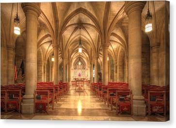 Bethlehem Chapel Washington National Cathedral Canvas Print by Shelley Neff
