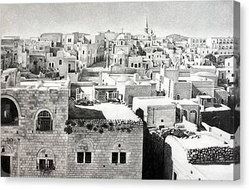 Bethlehem Old Town Canvas Print by Munir Alawi