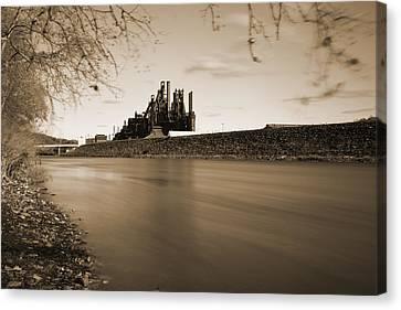 Bethlehem Steel Along The Lehigh Canvas Print by Jennifer Ancker
