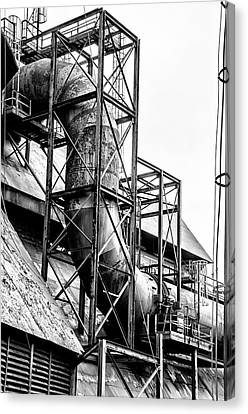 Bethlehem Steel - Black And White Industrial Canvas Print by Bill Cannon