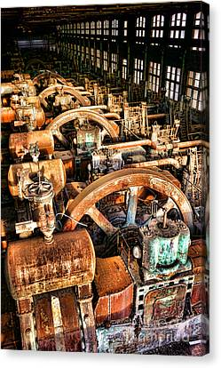 Bethlehem Steel Blower House Canvas Print by Olivier Le Queinec