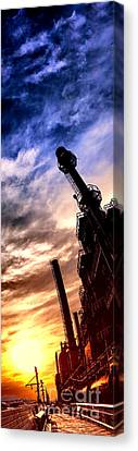 Factory Work Canvas Print - Bethlehem Steel Glory by Olivier Le Queinec