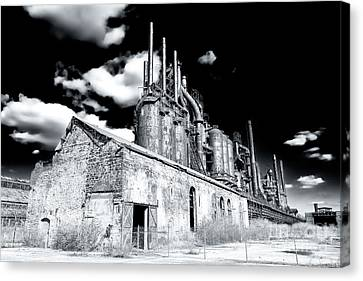 For Factory Canvas Print - Bethlehem Steel by John Rizzuto