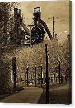 Bethlehem Steel Mill Canvas Print by Luis Lugo