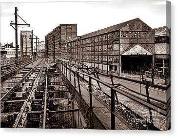Bethlehem Steel Number Two Machine Shop Canvas Print by Olivier Le Queinec