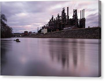 Bethlehem Steel Sunset Canvas Print