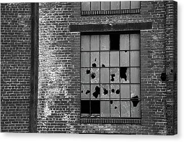 Bethlehem Steel Window Canvas Print by Jennifer Ancker