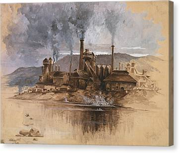 Bethlehem Steel Works In May 1881 Canvas Print by Everett