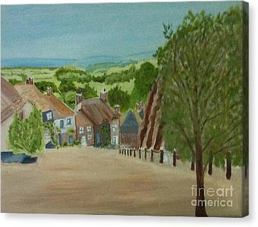 Gravel Road Canvas Print - Gold Hill, Shaftesbury Dorset S W England by Rod Jellison