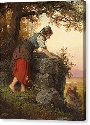 Betrayed Canvas Print by Johann Georg Meyer