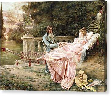 Betrothed Canvas Print by Joseph Frederic Charles Soulacroix