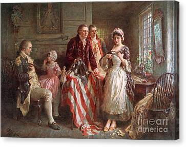 Betsy Ross, 1777 Canvas Print by Photo Researchers
