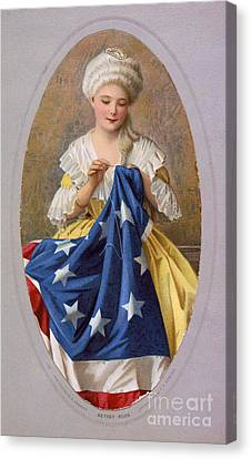 Betsy Ross, American Flag Design Canvas Print by Science Source