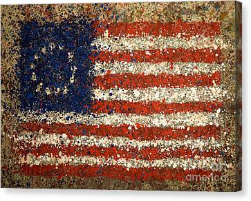 Betsy Ross Flag Number One Canvas Print by Michael Glass