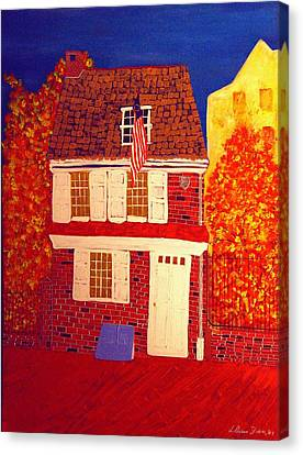 Betsy Ross's House Canvas Print