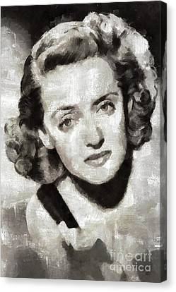 Bette Davis, Hollywood Actress Canvas Print by Mary Bassett