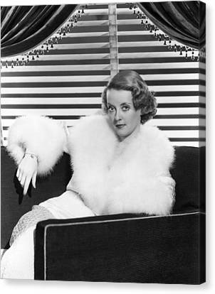 Bette Davis In The Mid 1930s Canvas Print by Everett