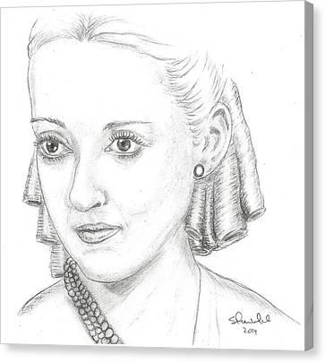 Steven White Canvas Print - Bette Davis by Steven White
