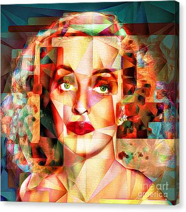 Canvas Print featuring the photograph Bette Davis What Ever Happened To Baby Jane 20170418 Square by Wingsdomain Art and Photography