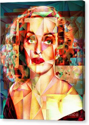 Canvas Print featuring the photograph Bette Davis What Ever Happened To Baby Jane 20170418 by Wingsdomain Art and Photography